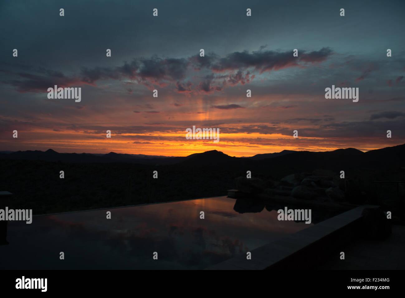 Starburst Sunset - Stock Image