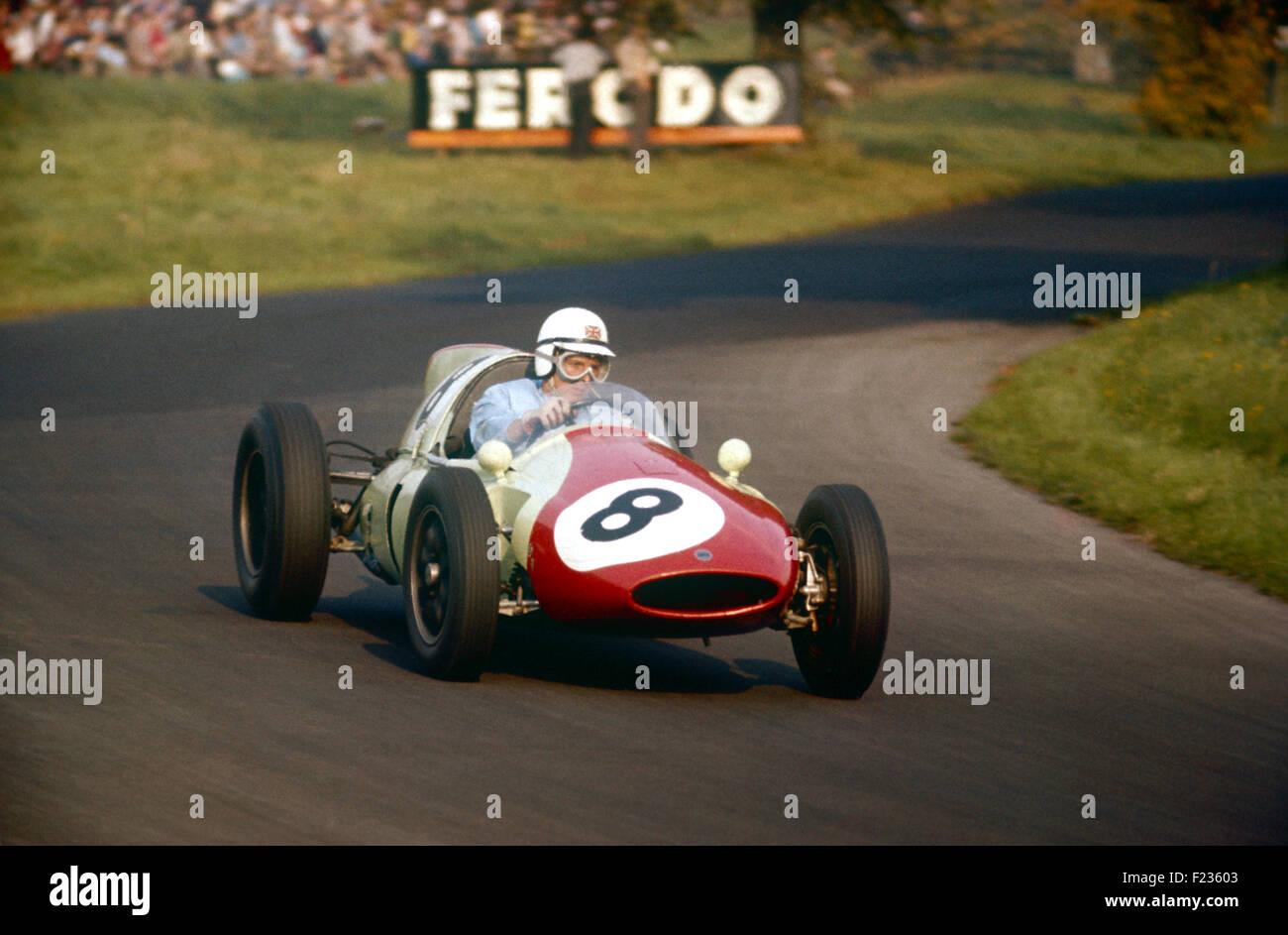 Cooper 8 Henry Taylor, Oulton Park Gold Cup Cooper T51, 23 September 1960 - Stock Image