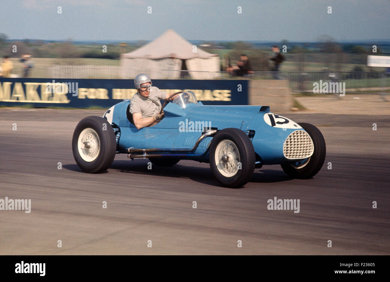 John Barber at a VSCC Historic meeting in the former Cooper-ERA by this time Bristol engined, Silverstone, UK - Stock Image