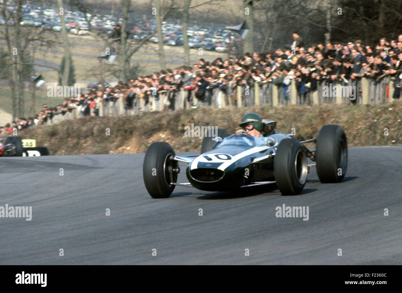 10 Jochen Rindt in Cooper at Druid's Hill Hairpin,-Brands Hatch, I Race of Champions 13 March 1965 - Stock Image