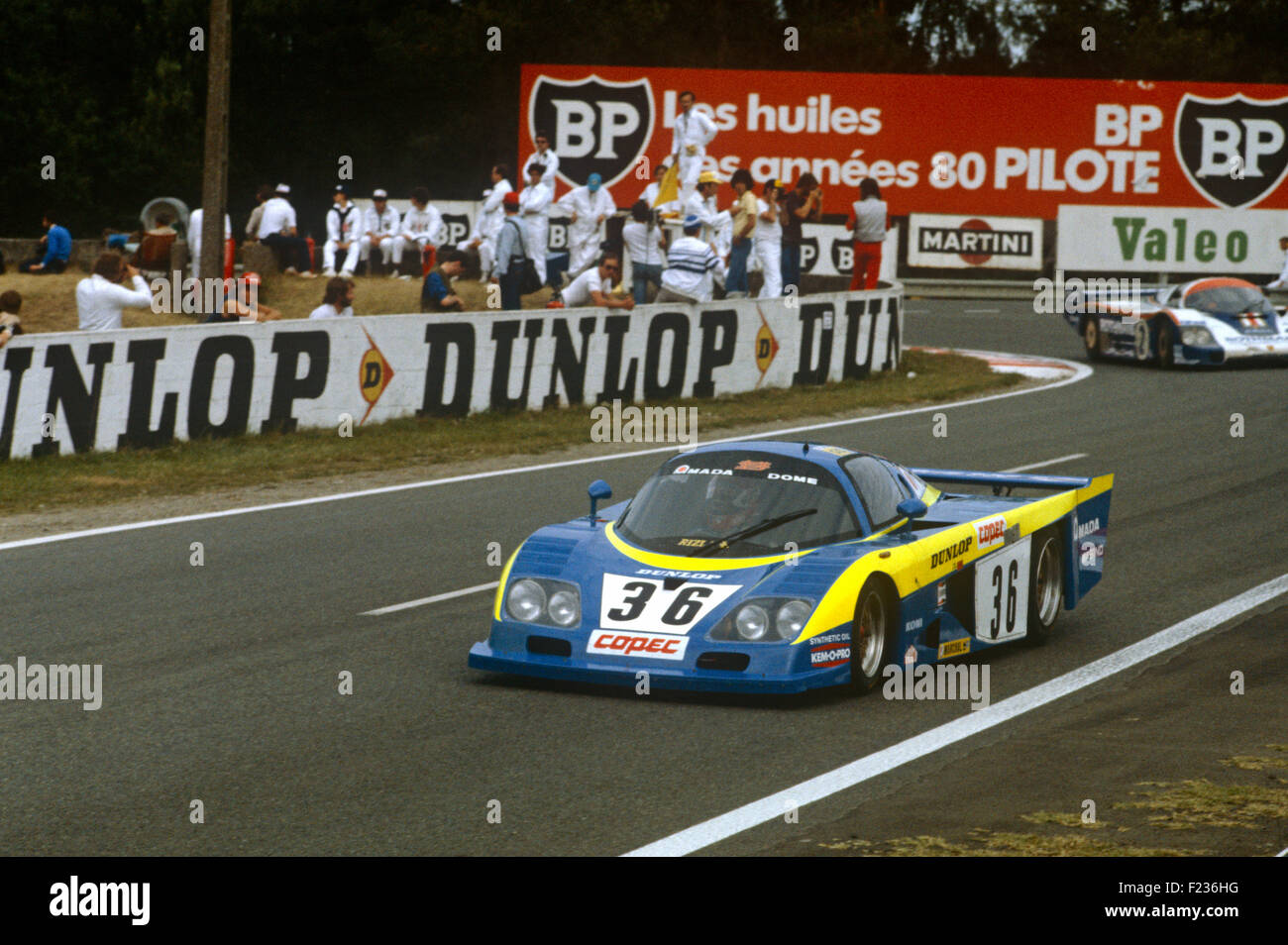 36 Chris Craft and Eliseo Salazar Dome RC82 at the Mulsanne Corner at Le Mans 20th June 1982 - Stock Image