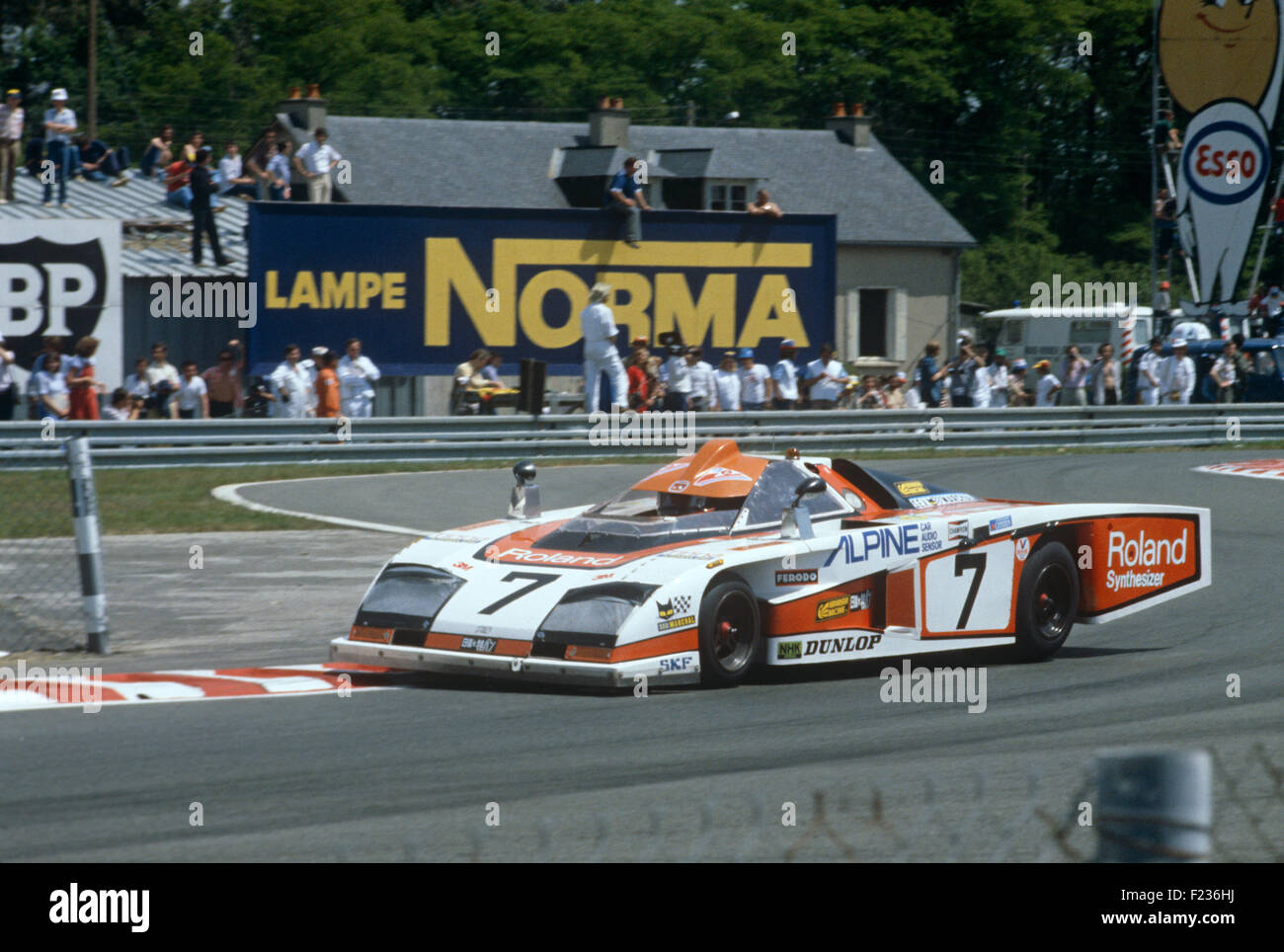 7 Bob Evans and Tony Trimmer Dome in the Ford Chicane at Le Mans 9 June 1979 - Stock Image