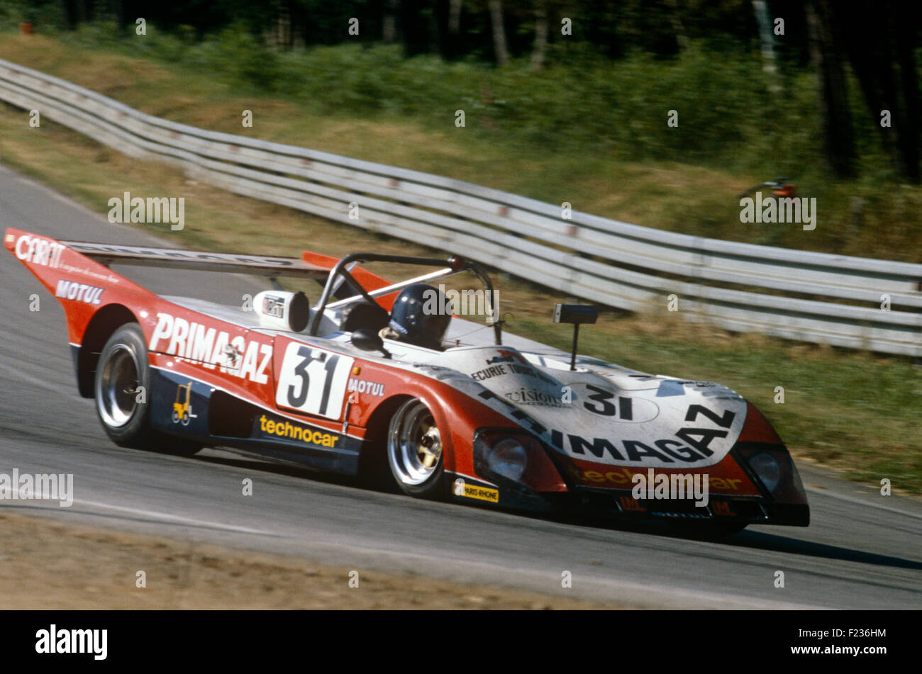 31 Jean Philippe Grand and Yves Courage Lola T298 at Le Mans 14 June 1981 - Stock Image