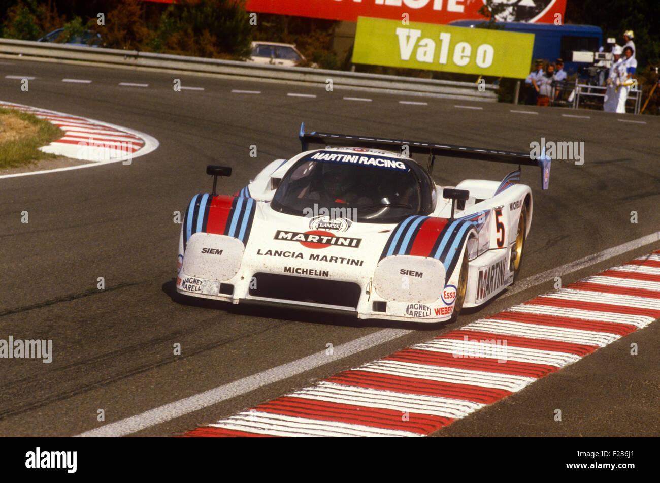 5 Henri Pescarolo and Mauro Baldi Lancia Ferrari LC2 Le Mans 16 June 1985 - Stock Image