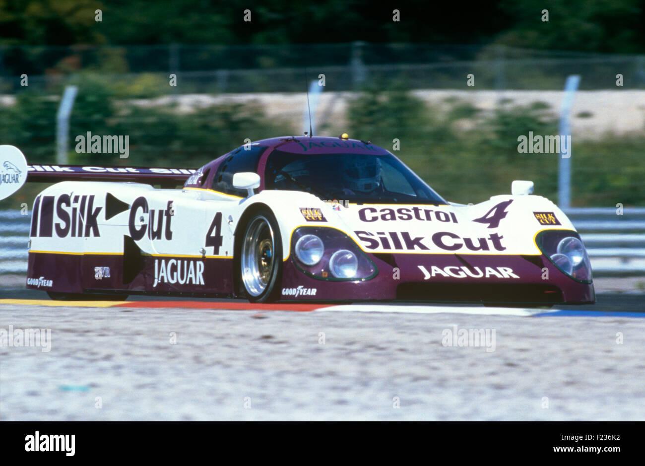 Davy Jones, Michel Fert and Eliseo Salazar Jaguar XJR Le Mans 16 June 1990 - Stock Image