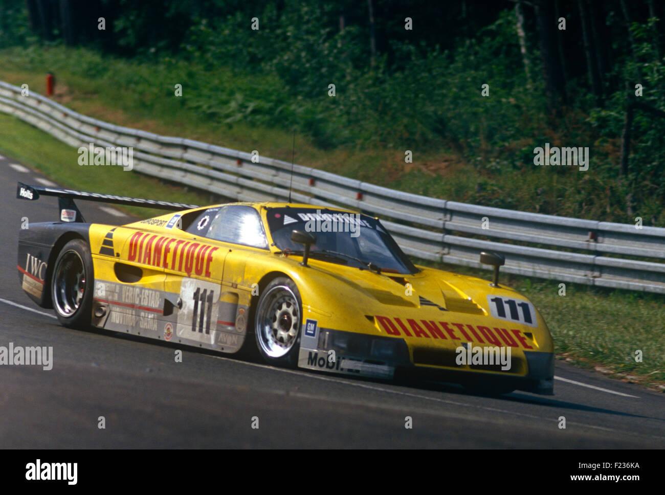 Gordon Spice, Fermin Velez and Philippe de Henning Spice Pontiac SE86C Le Mans 14 June 1987 - Stock Image