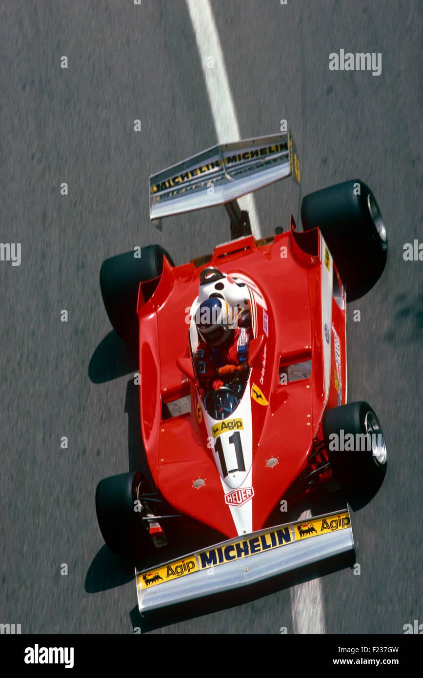 Carlos Reutemann in a Ferrari 312T3 Monaco GP, 7 May 1978 - Stock Image