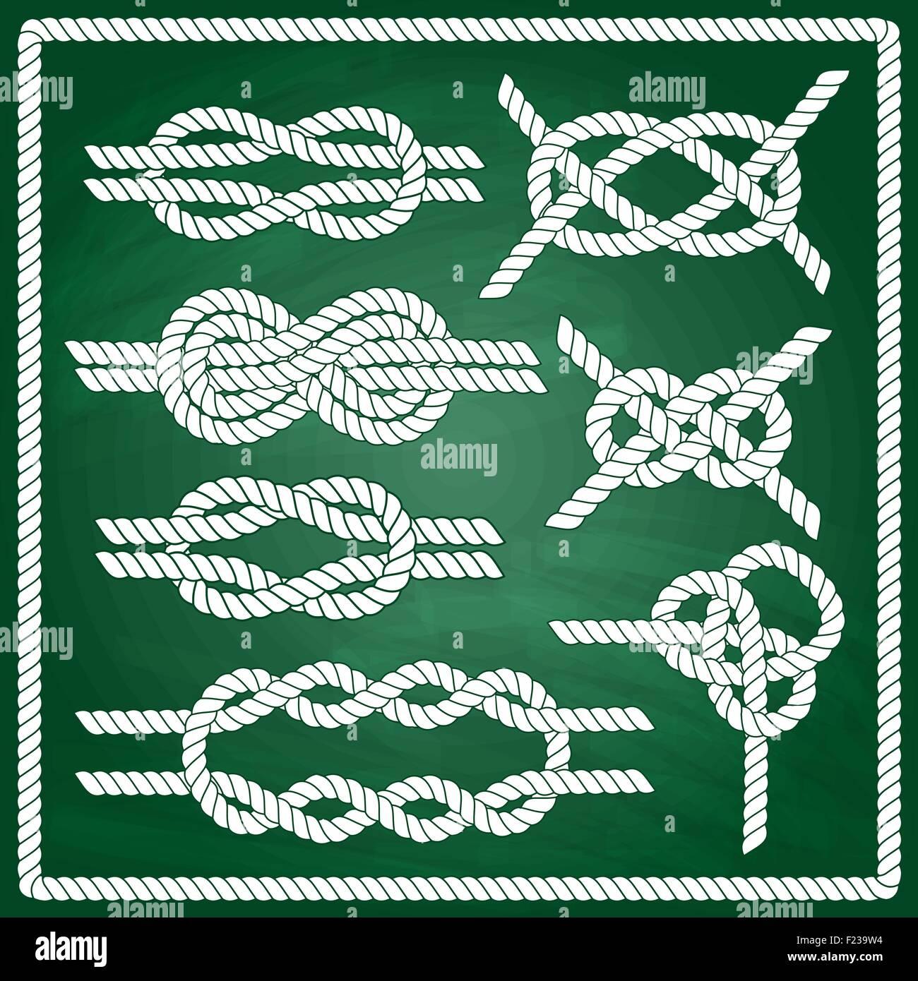 Sailor knot set. - Stock Vector