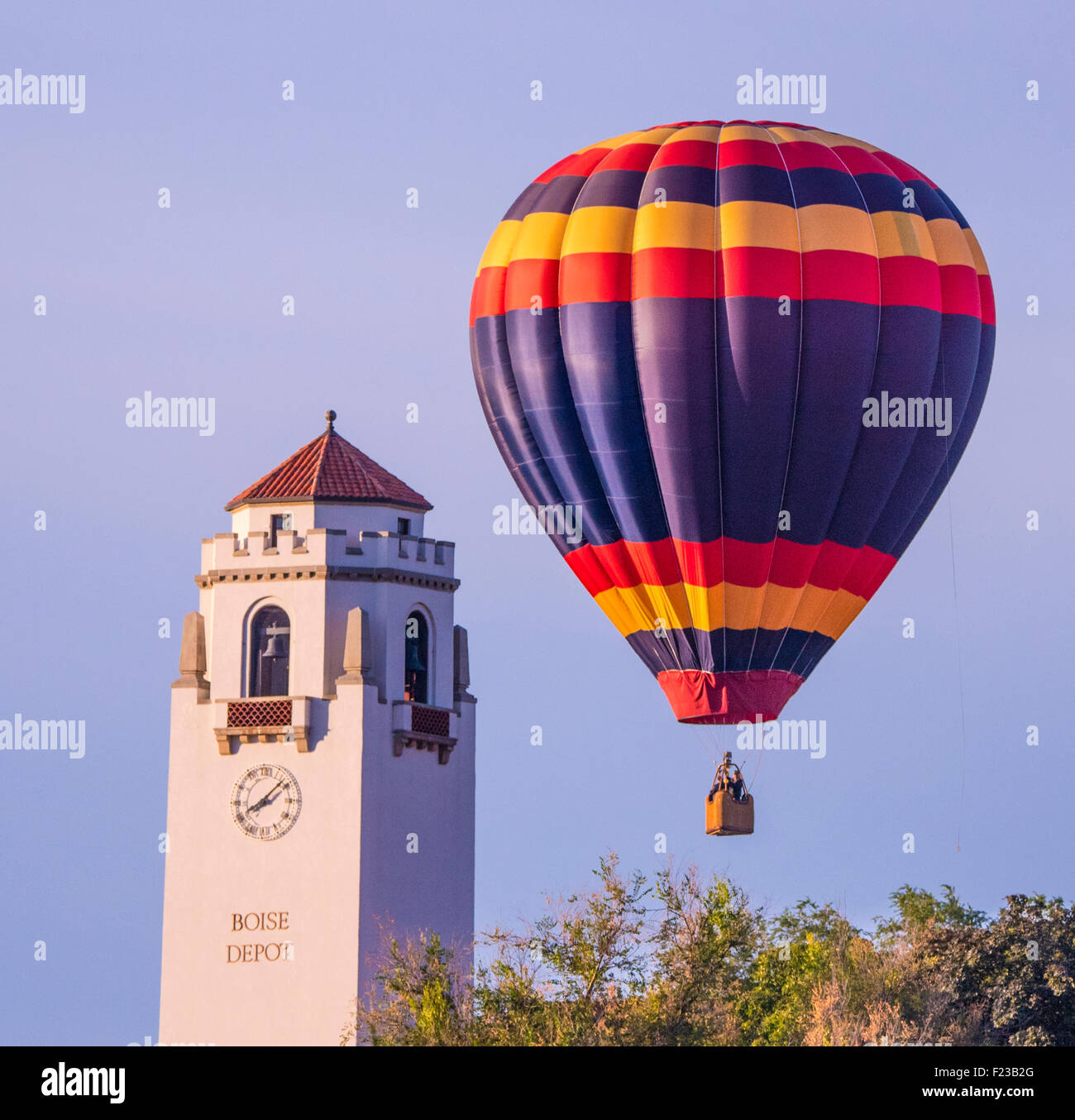 union pacific boise depot balloons hovering overhead during spirit
