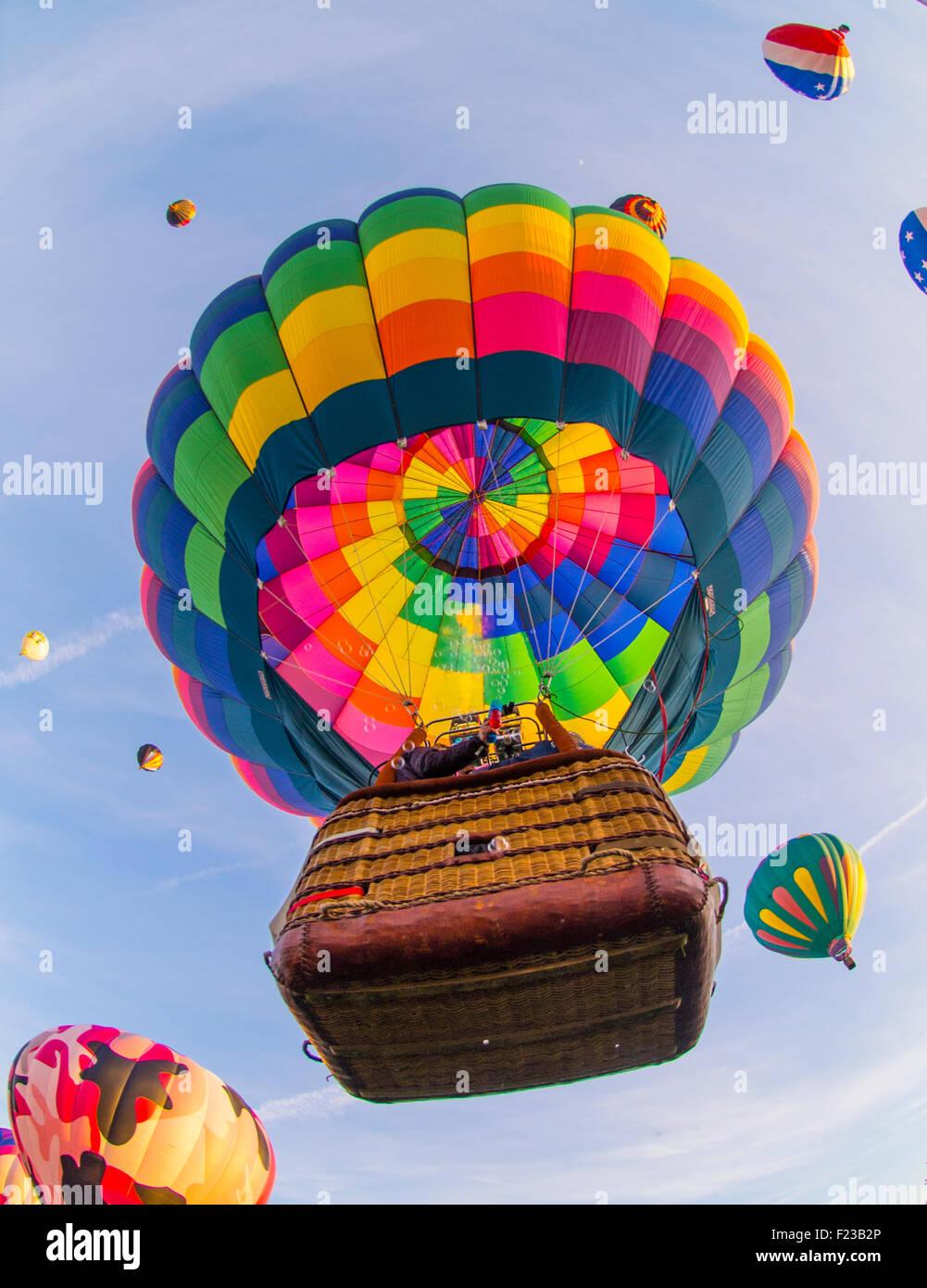 Hot Air Balloons, Albuquerque International Balloon Festival, New Mexico, USA - Stock Image