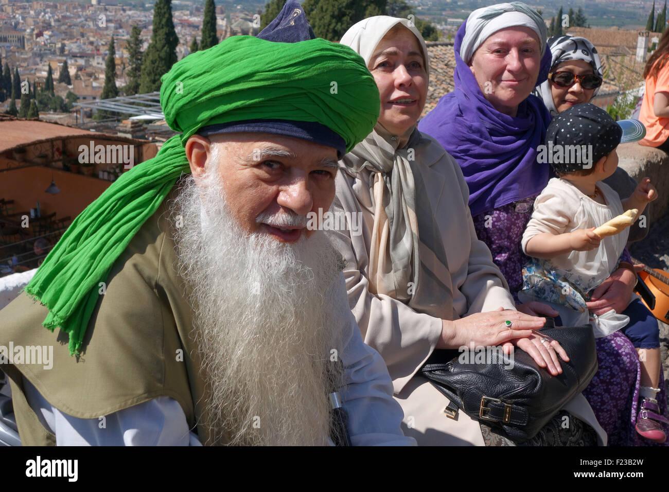 Shaykh Hisham Kabbani prominent Lebanese-American Sufi Muslim in Granada Spain - Stock Image