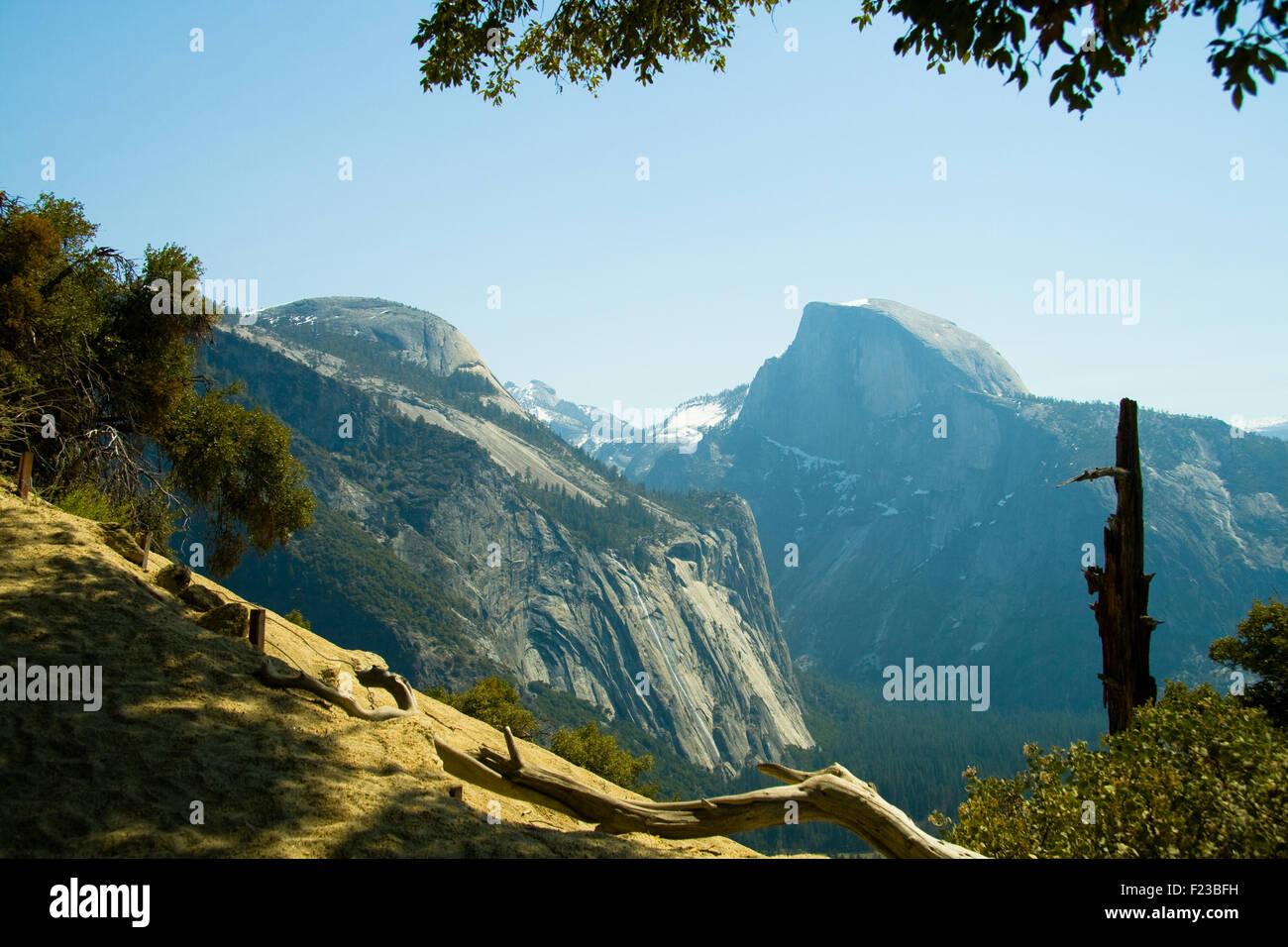 Granite dome, Half Dome, Yosemite Valley, Yosemite National Park, California, USA Stock Photo
