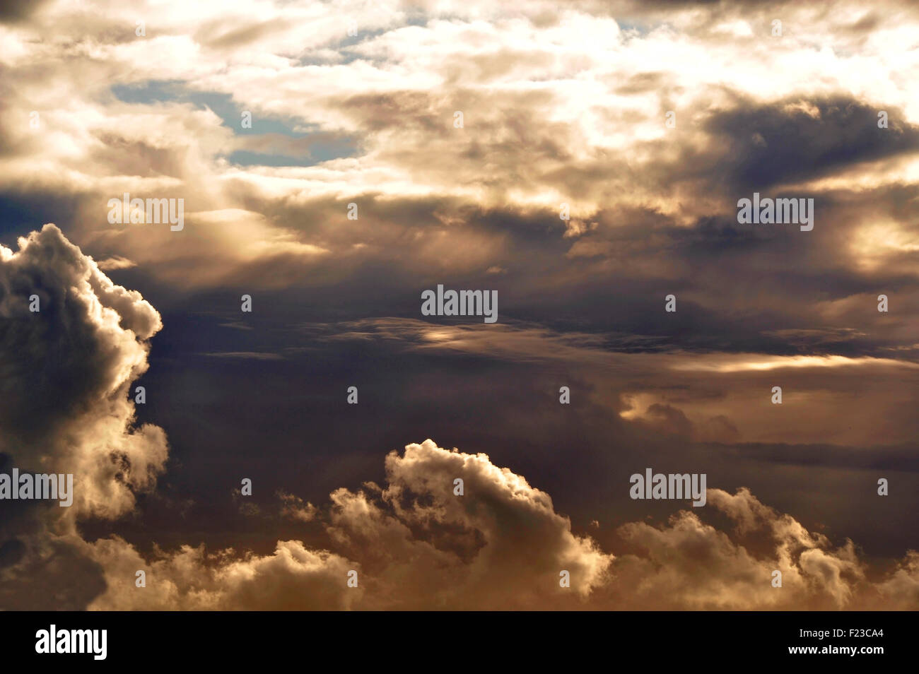 Skyscape. Moody cloud formation - Stock Image