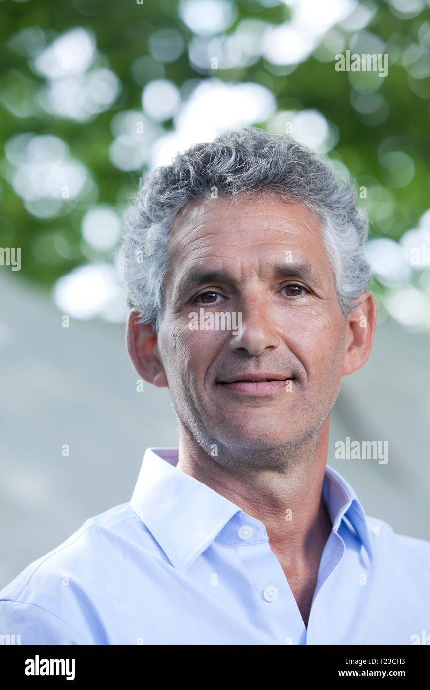 Tim Spector, Professor of Genetic Epidemiology at King's College, London, at the Edinburgh International Book - Stock Image