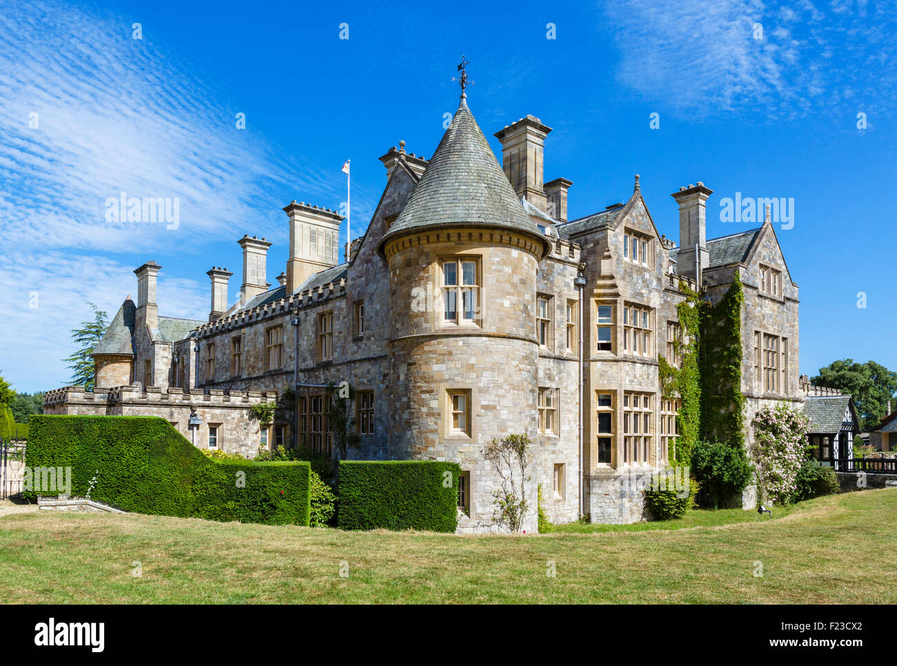 Beaulieu Palace House, home of the Barons Montagu, Beaulieu, Hampshire, England, UK - Stock Image