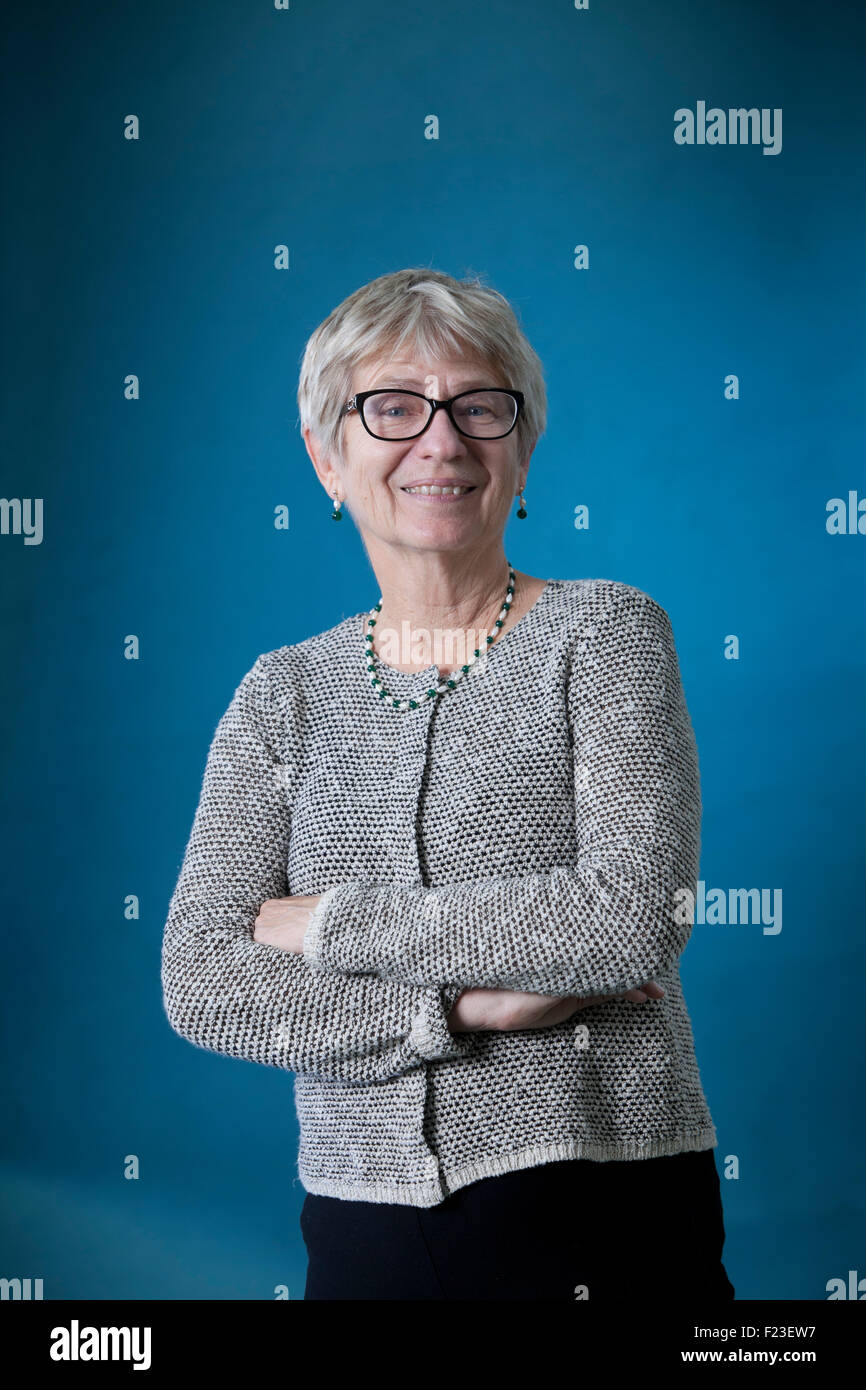 Penny Johnson, editor, writer and academic, at the Edinburgh International Book Festival 2015. Edinburgh, Scotland. - Stock Image