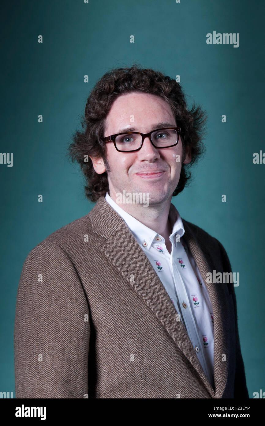 Jonathan Edwards, the Welsh poet, at the Edinburgh International Book Festival 2015. Edinburgh, Scotland. 21st August - Stock Image
