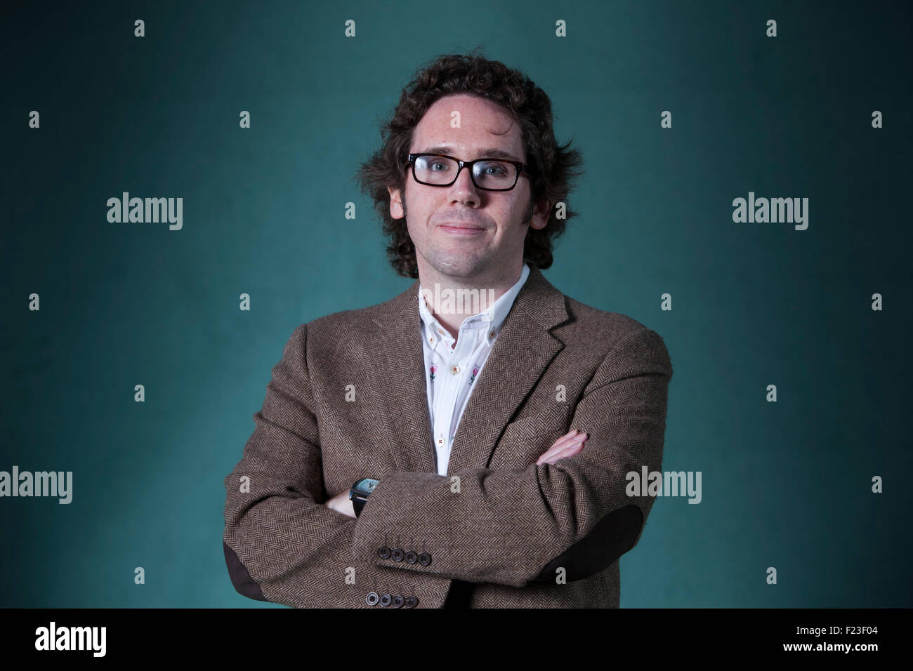 Jonathan Edwards, the Welsh poet, at the Edinburgh International Book Festival 2015. Edinburgh, Scotland. 21st August - Stock Image