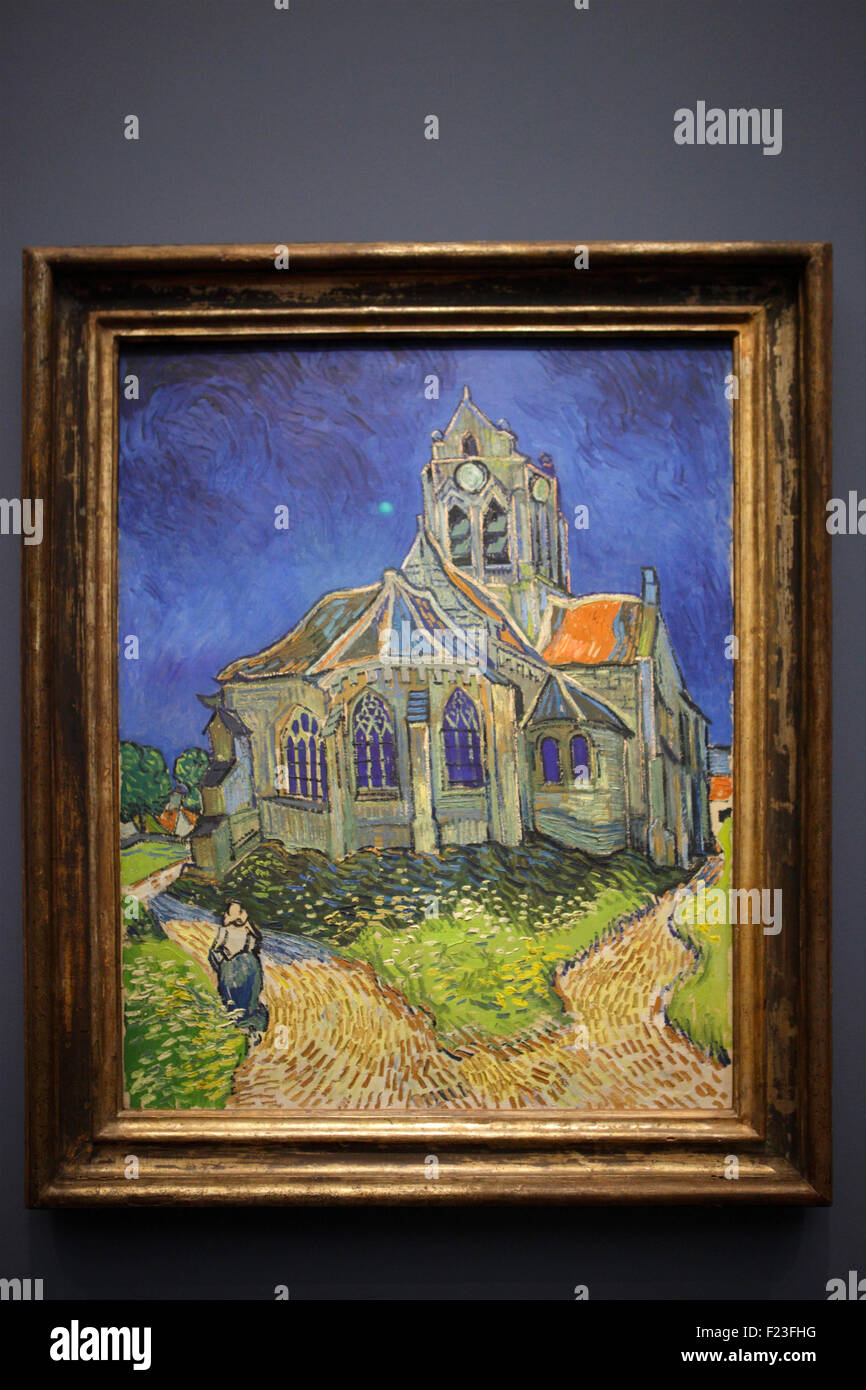 The Church at Auvers by Vincent van Gogh, Musée d'Orsay, Paris, France - Stock Image