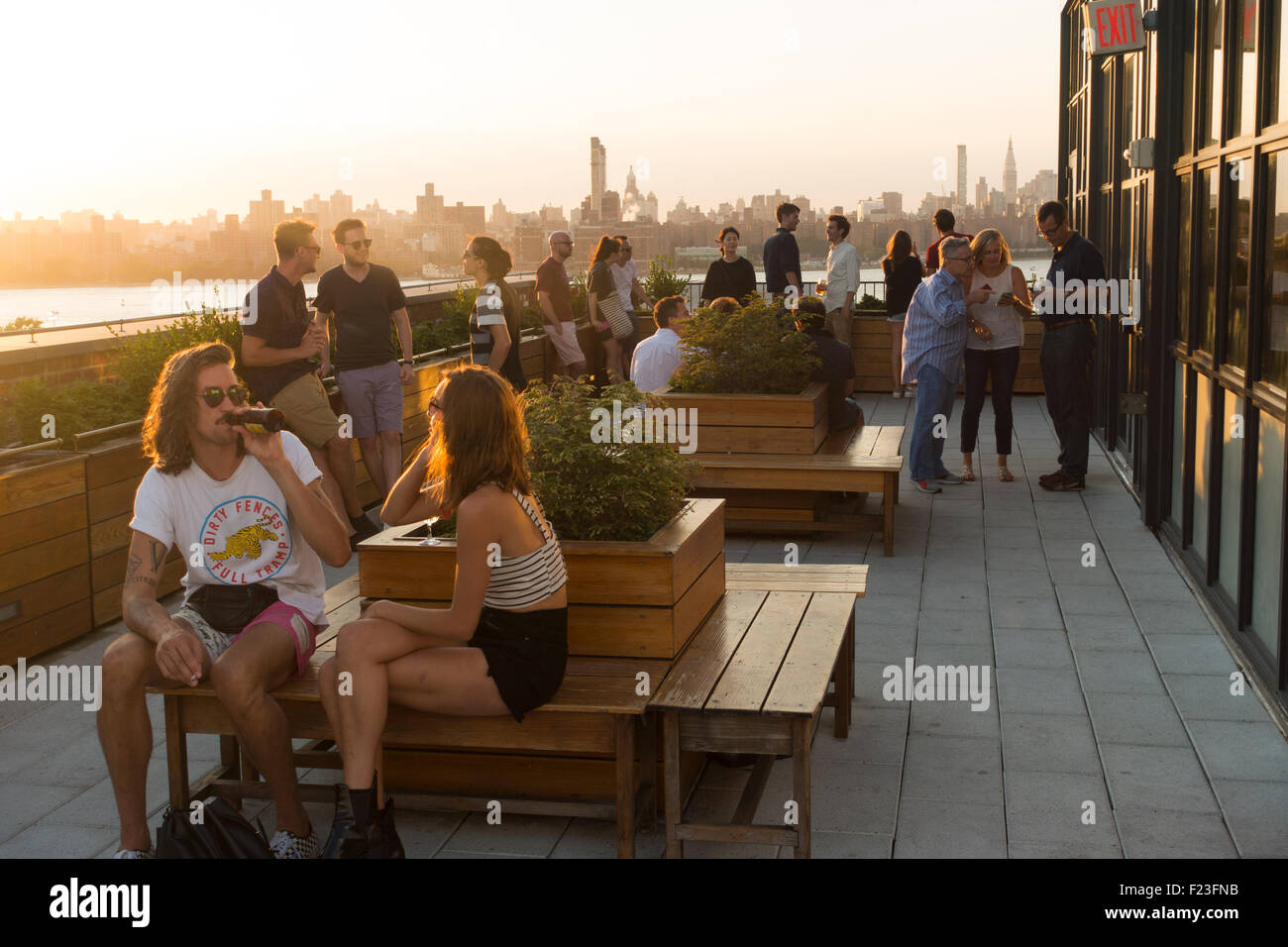 Exterior: Wythe Hotel Williamsburg Brooklyn NYC Stock Photo
