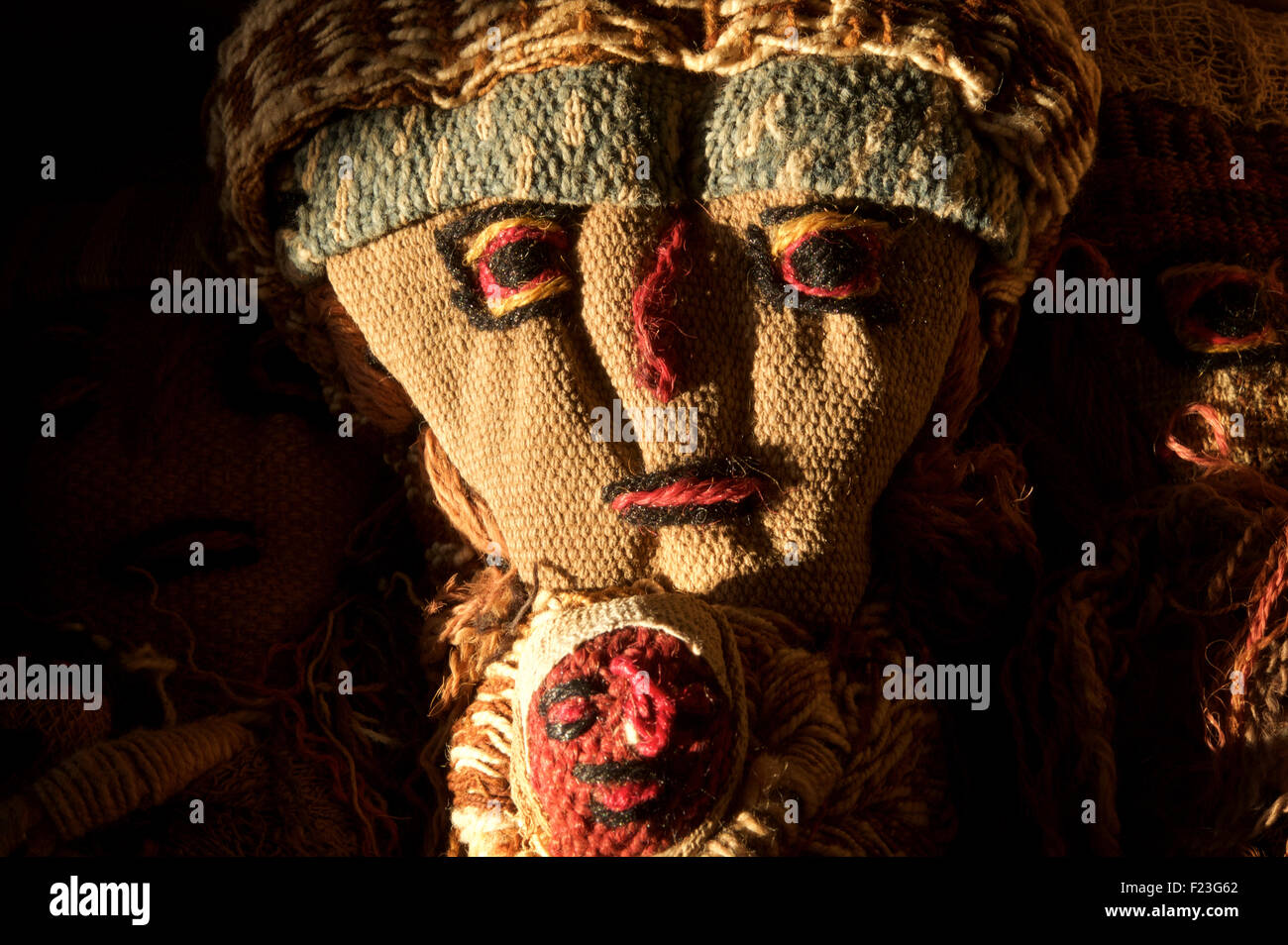 Peruvian doll made out of precolombian fabric. Peru. - Stock Image