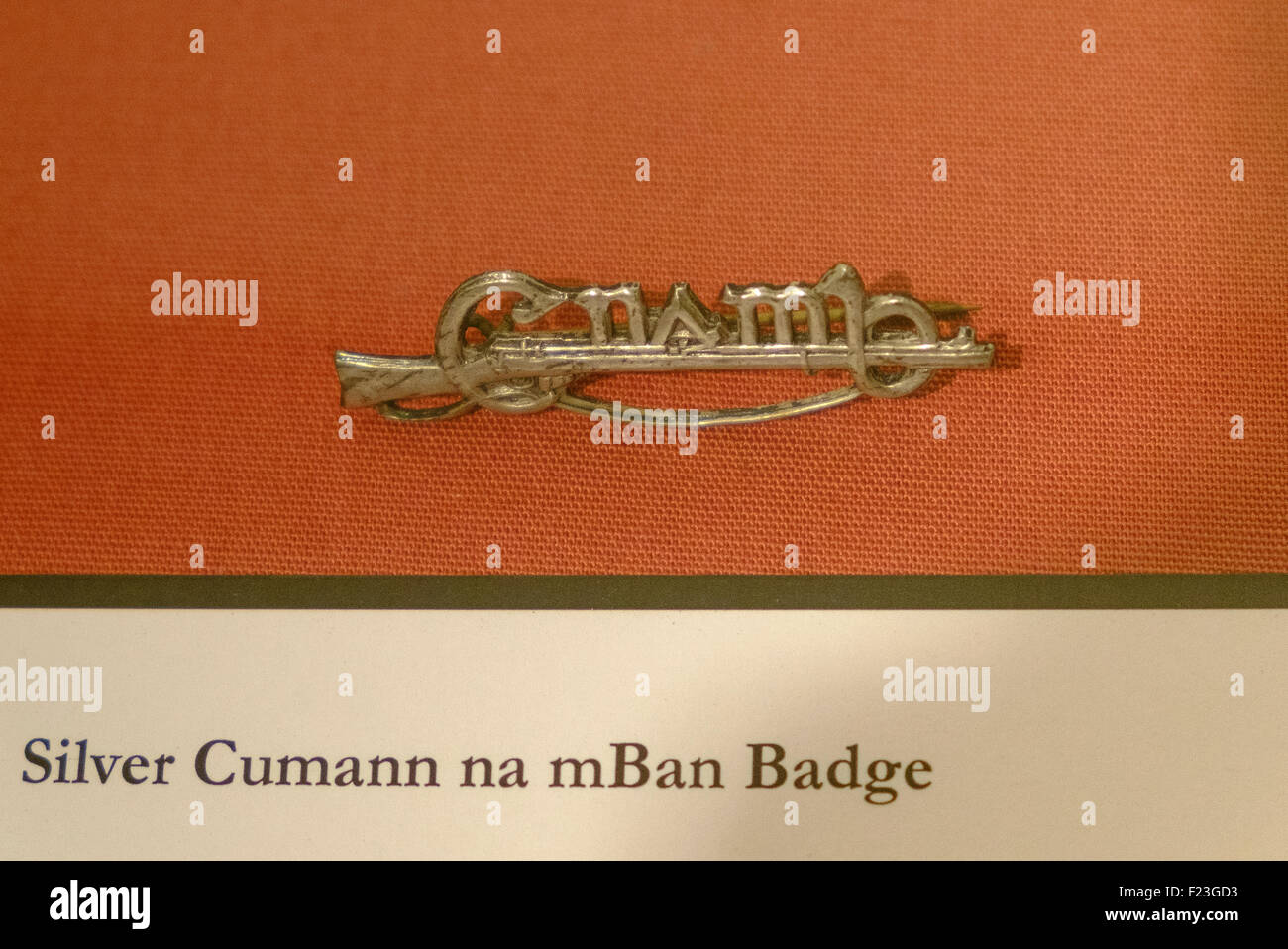 silver cumann na mBan badge irish fenian army - Stock Image