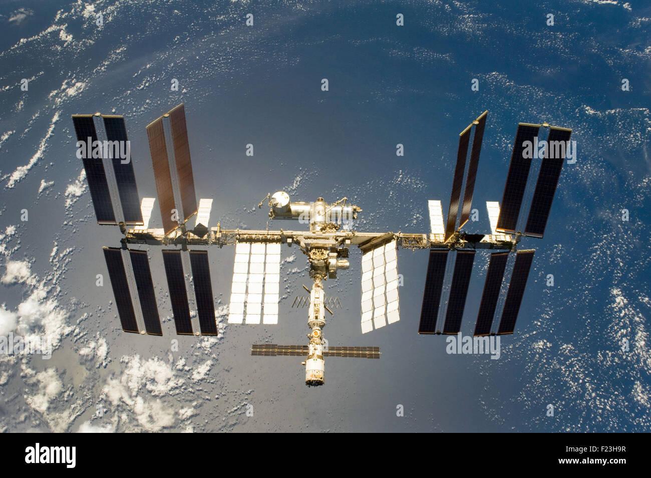 International Space Station. Optimised version of original NASA image - Stock Image