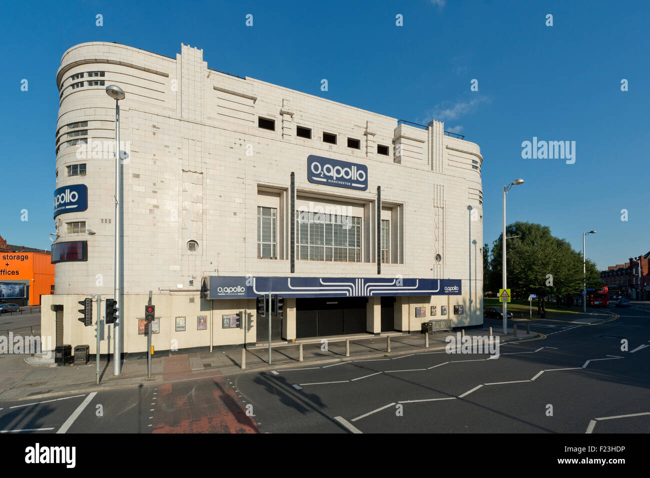 The O2 Apollo music venue on Stockport Road, Ardwick Green, in Manchester (Editorial use only). - Stock Image
