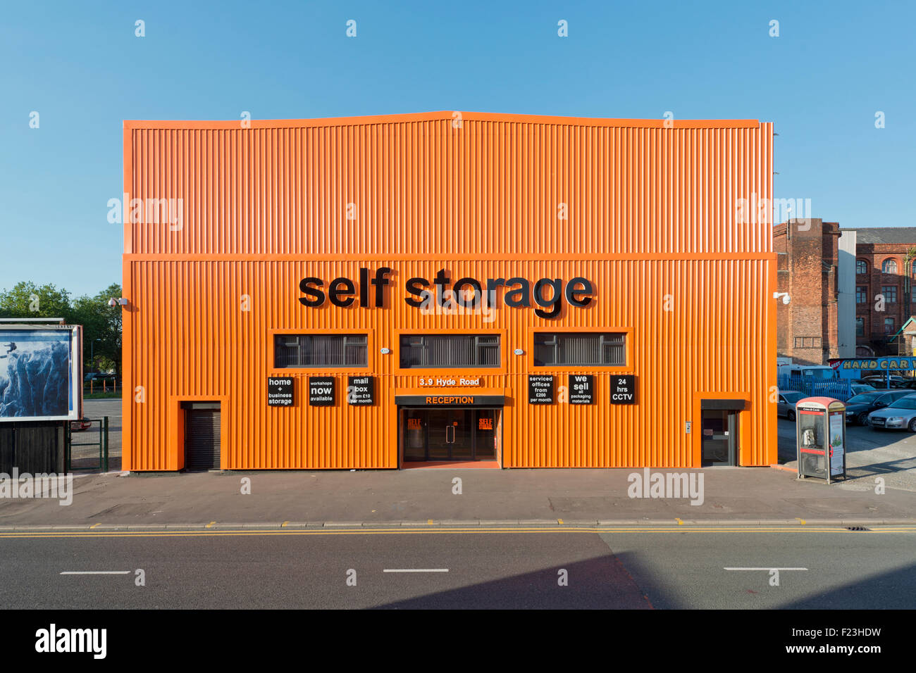A self storage business located on the A57 Hyde Road in Ardwick