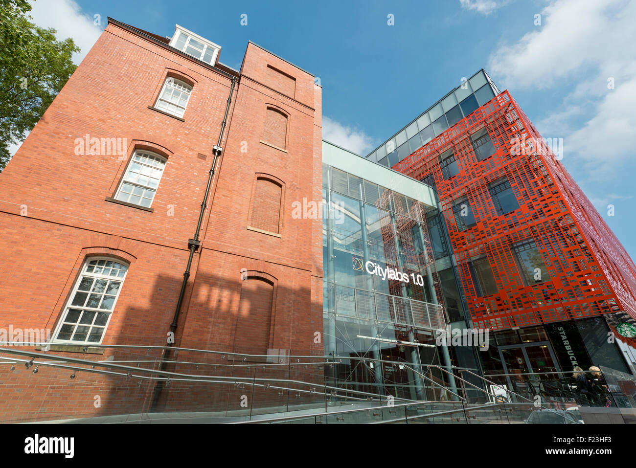 The Citylabs biomedical centre of excellence building located near to the NHS Manchester Royal Infirmary hospital - Stock Image