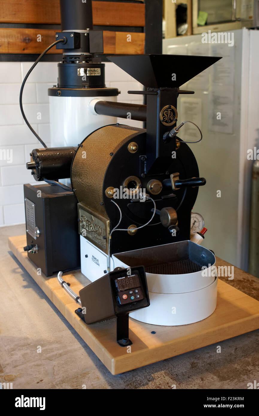 San Francisco coffee roaster machine in a coffee shop - Stock Image