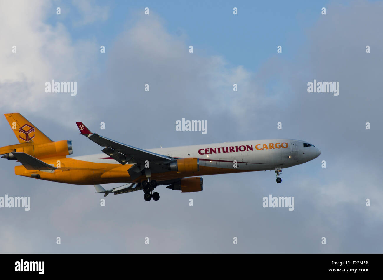 Centurion Cargo MD-11 aircraft flying through the skies