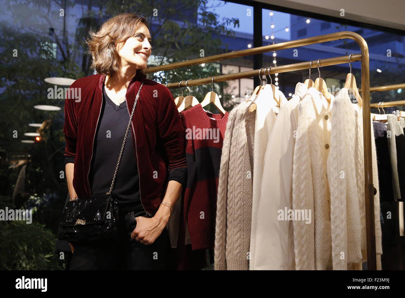 French fashion designer and former model Ines de la Fressange ...