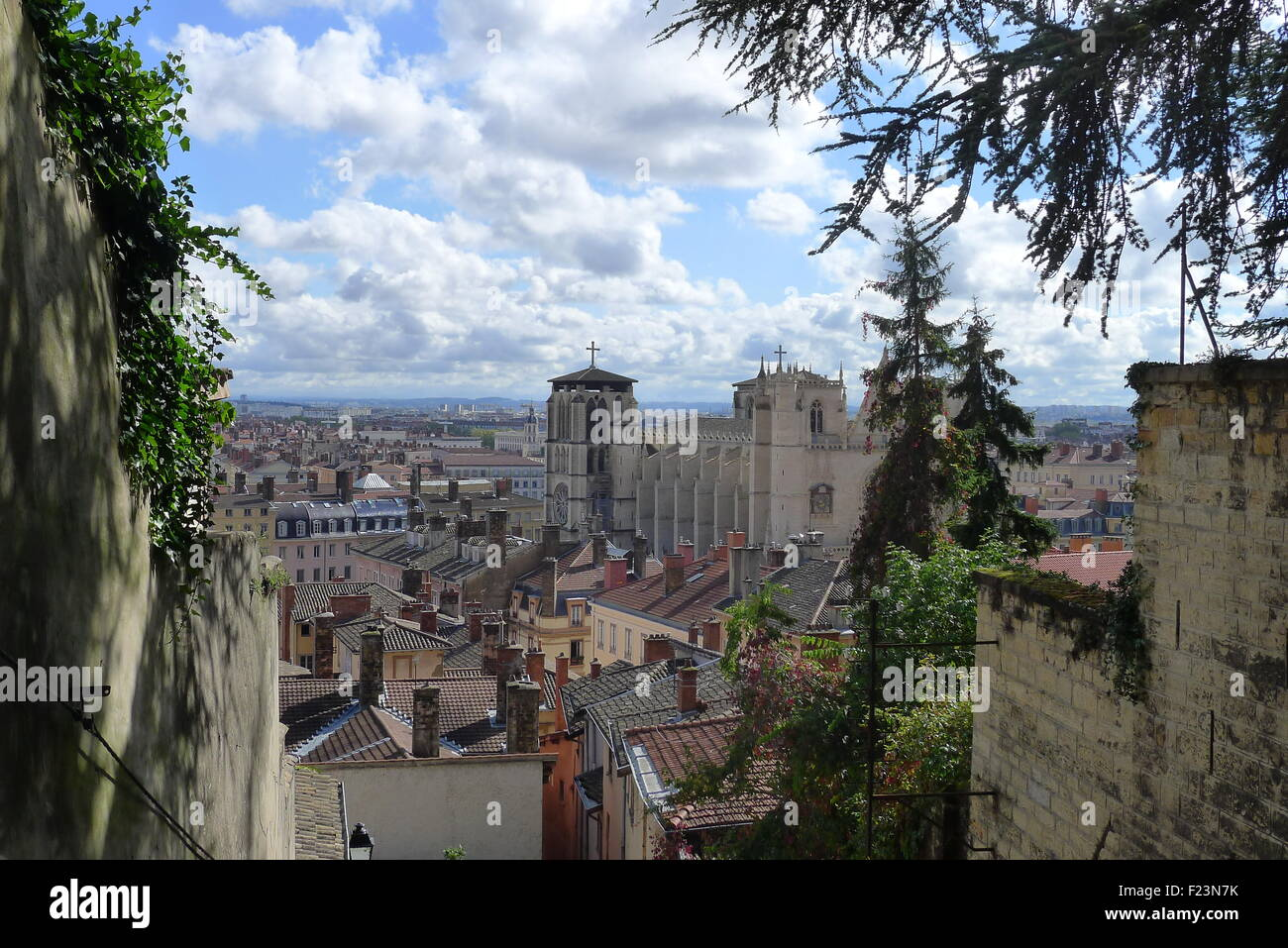 View of Lyon France - Stock Image