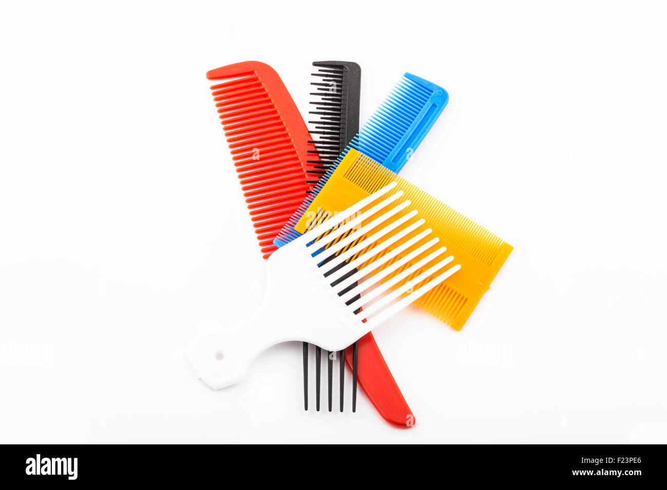 colored combs - Stock Image