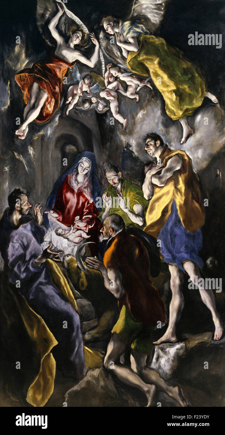 El Greco - The Adoration of the Shepherds 11 - Stock Image