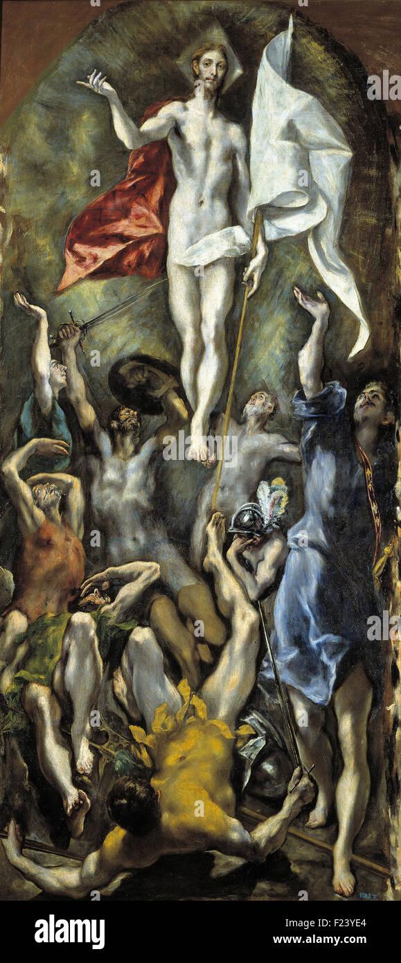 El Greco - The Resurrection - Stock Image
