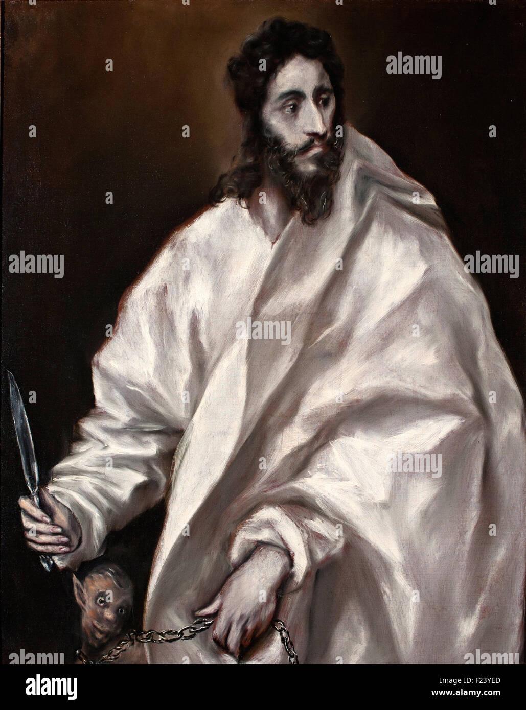 El Greco - Saint Bartholomew - Stock Image