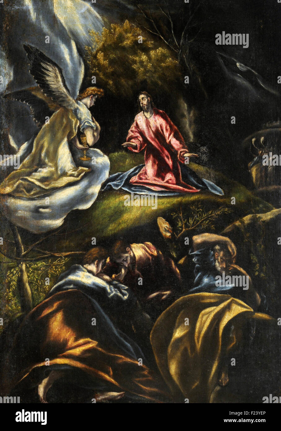 el greco the agony in the garden stock image - Agony In The Garden