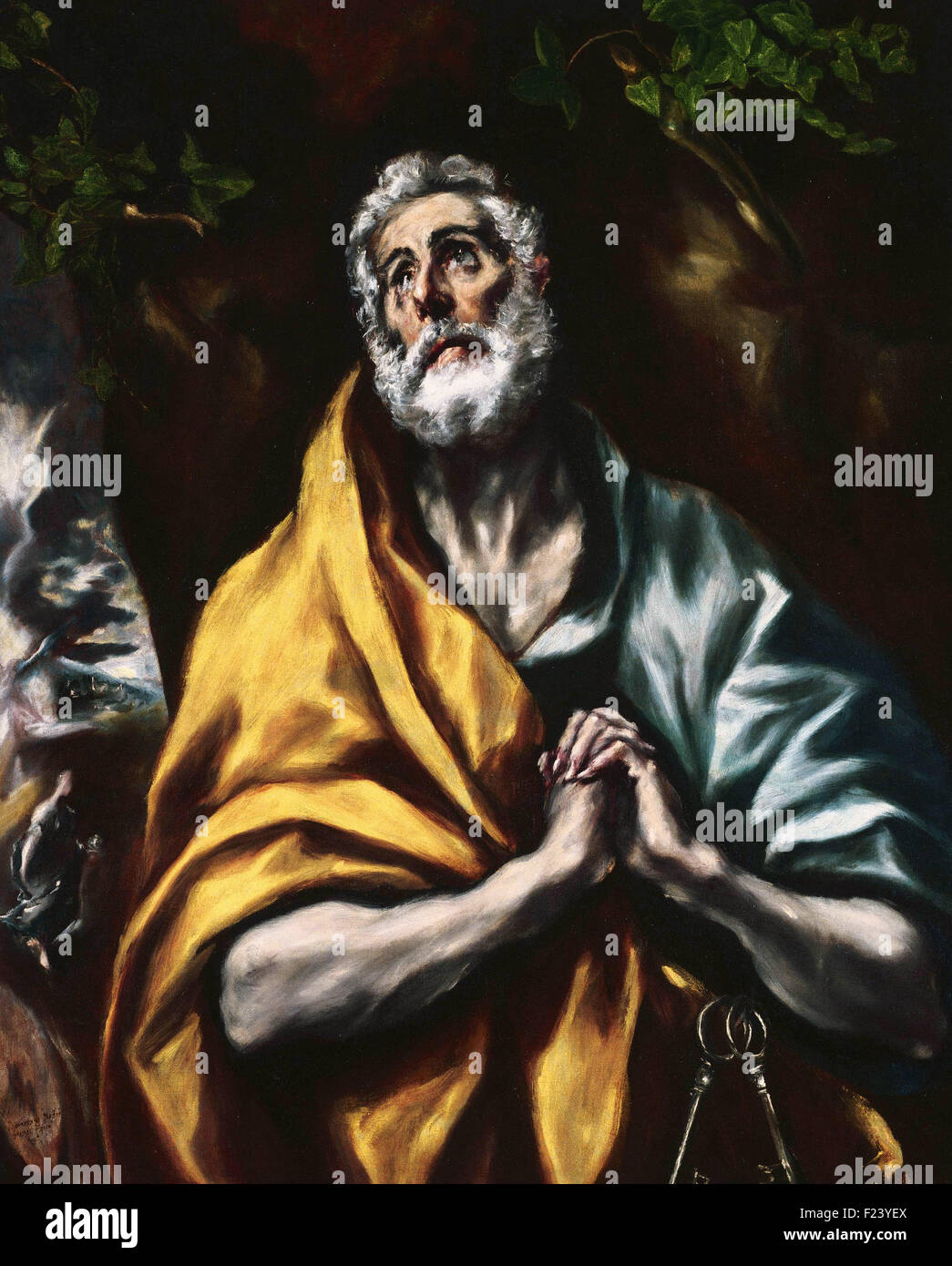 El Greco - The Repentant St. Peter - Stock Image