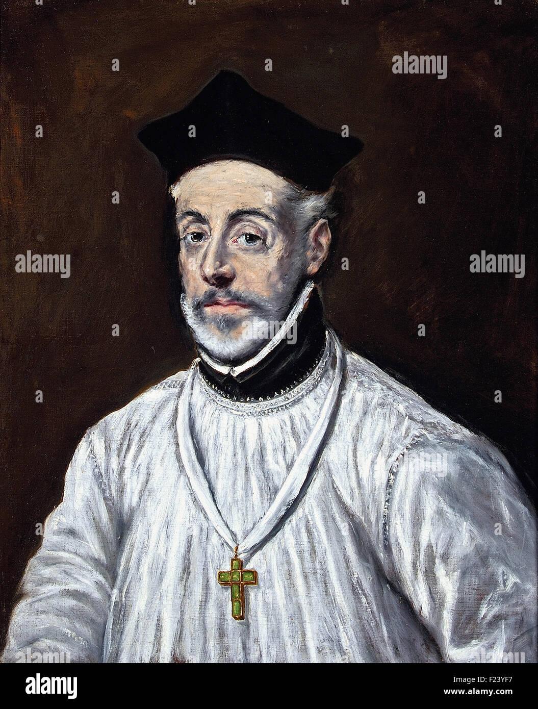 El Greco - Portrait of Diego de Covarrubias - Stock Image