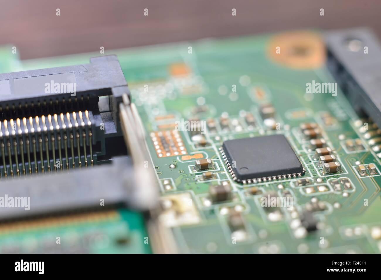 Computer Motherboard Bios Chip Stock Photos & Computer