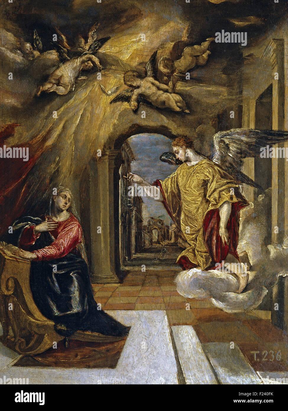 El Greco - The Annunciation 16 - Stock Image