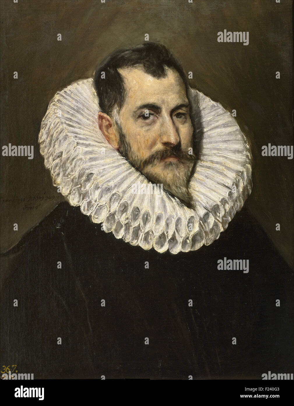 El Greco - Portrait of an Unknown Gentleman - Stock Image