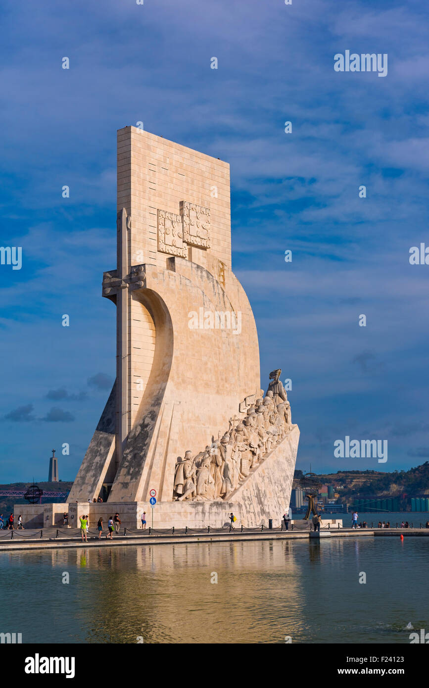 Monument to the Discoveries, Belem Lisbon Portugal - Stock Image