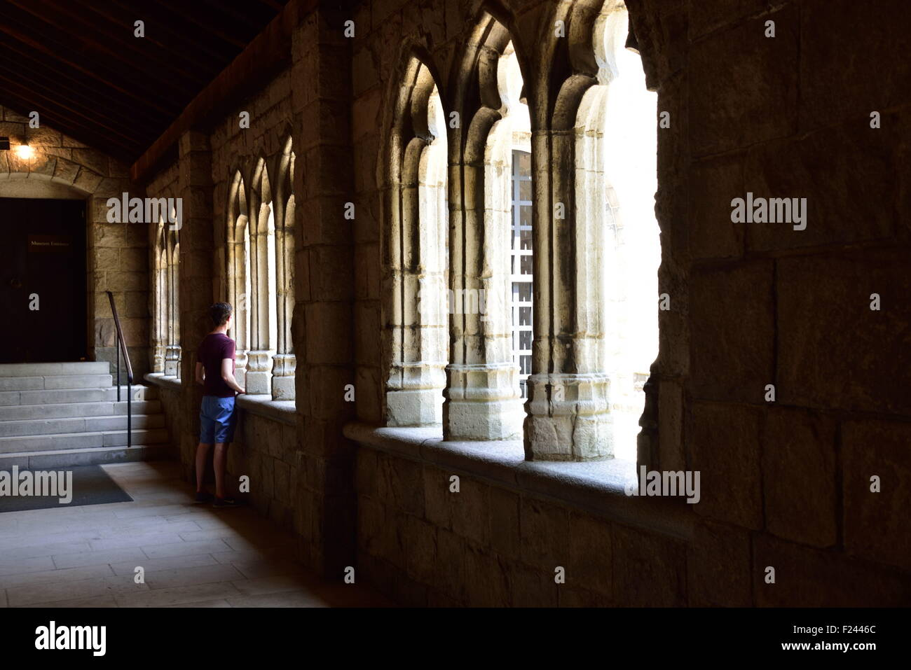one of the fist cloysters inside the natural history museum separate building in uptown Manhattan - Stock Image