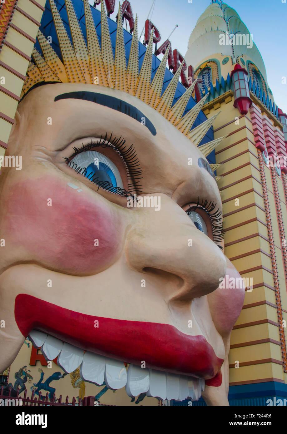 Sydney's Luna Park amusement park - Stock Image