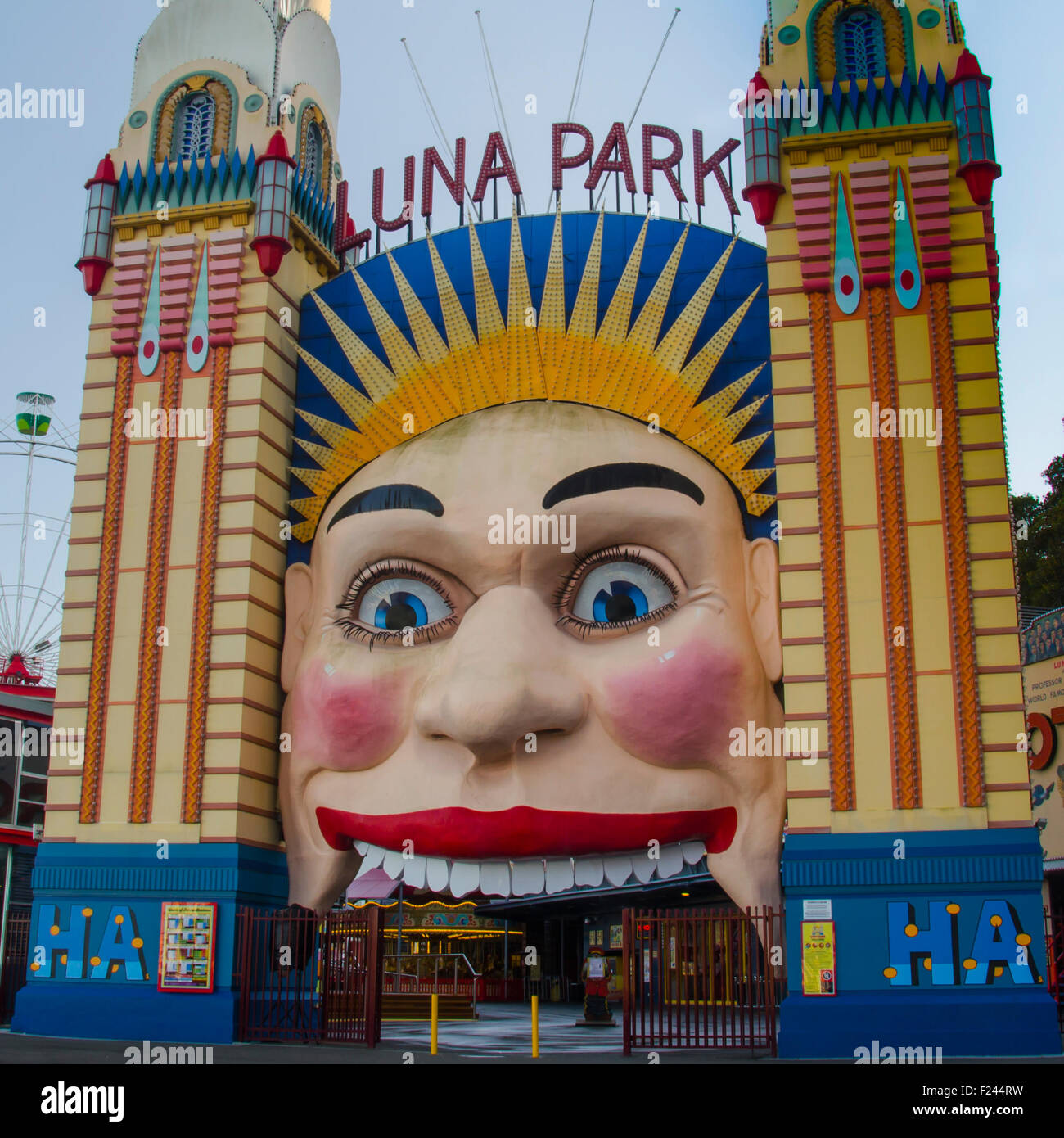 Sydney's Luna Park amusement park Stock Photo