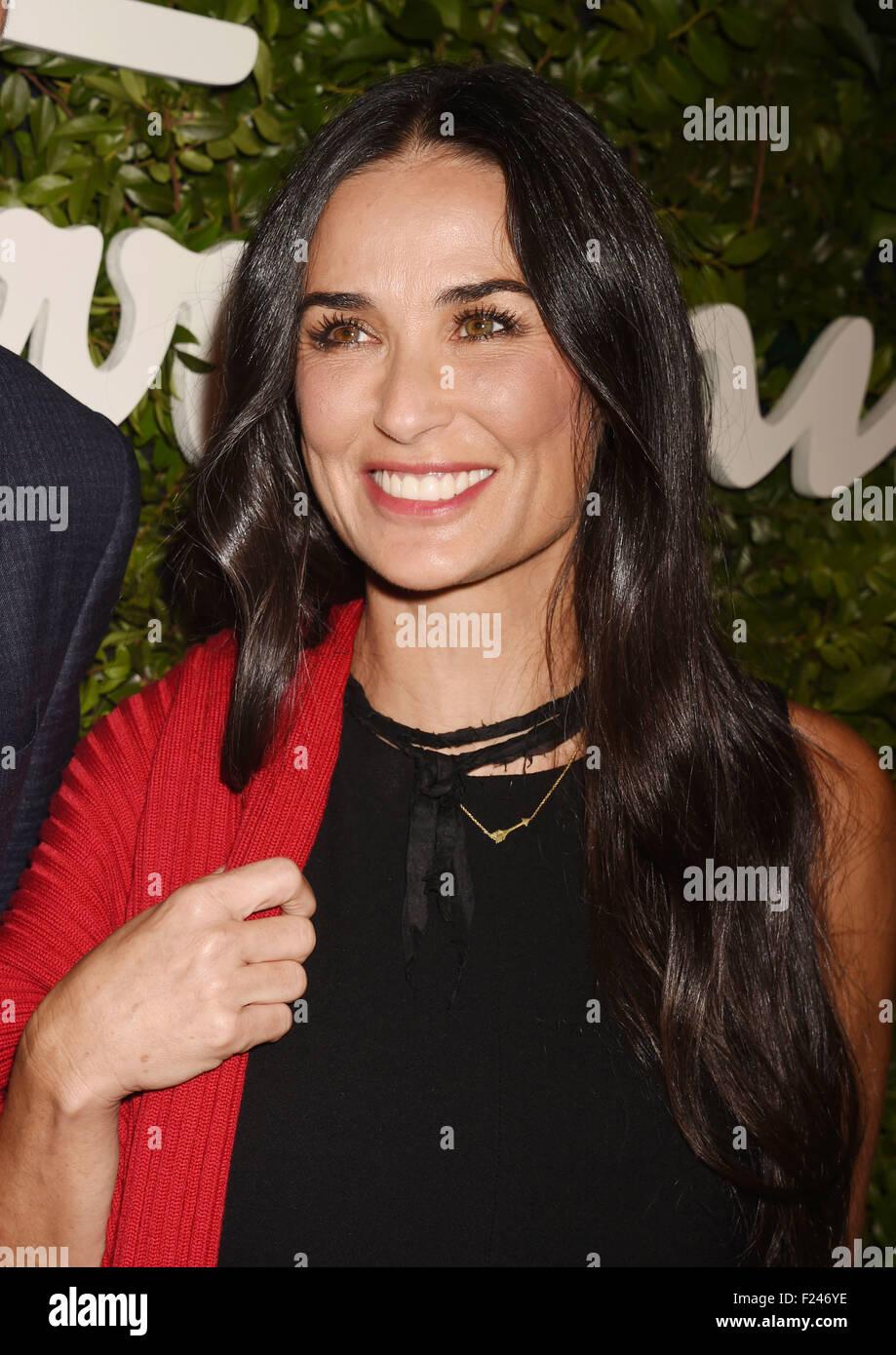 DEMI MOORE US film actress in September 2015. Photo Jeffrey Mayer Stock Photo