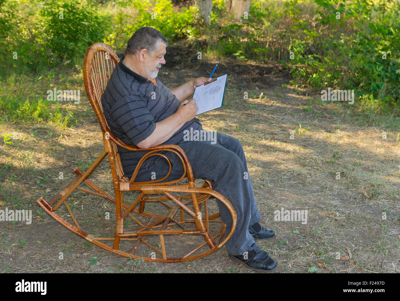 Old Man Rocking Chair Stock Photos Old Man Rocking Chair Stock